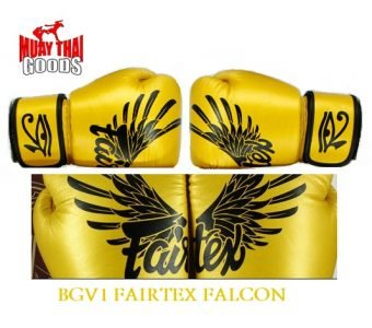 FAIRTEX FALCON BGV1 LIMITED EDITION ORIGINAL AUTHENTIC GOLD EAGLE MUAY THAI GOODS