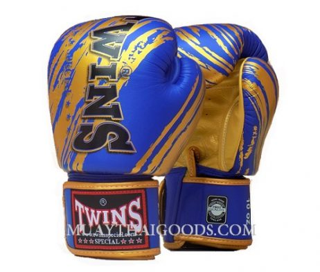 TWINS SPECIAL FBGV TW2 Blue Gold - MUAY THAI GOODS