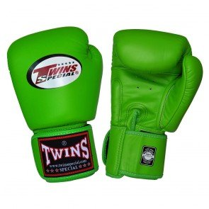 MUAY THAI KICK BOXING GLOVES BRANDED TWINS SPECIAL BGVL3 GREEN