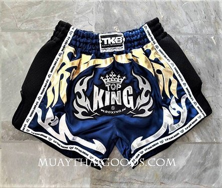 TOP KING BOXING MUAY THAI SHORTS LOW WAIST BLUE