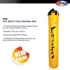 SHOP - HEAVY BAG - MUAY THAI - FAIRTEX Banana Yellow HB6 - MUAY THAI GOODS