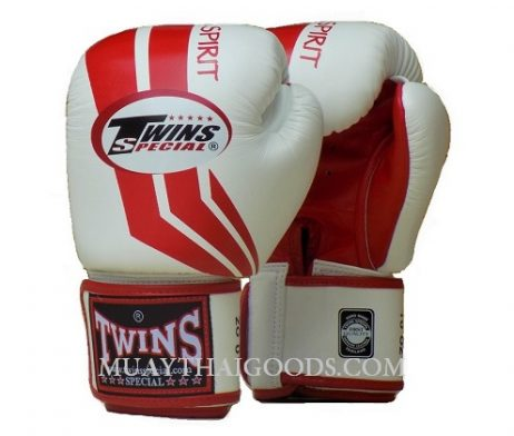 TWINS SPECIAL VELCRO FIGHTING SPIRIT FBGV43 WHITE RED