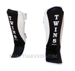 Twins Special Shin Pads Protection TWINS BLACK WHITE SGMC-8 SUPER SLIM