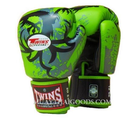 BOXING GLOVES TRIBAL DRAGON FBGV36 GREEN TWINS SPECIAL