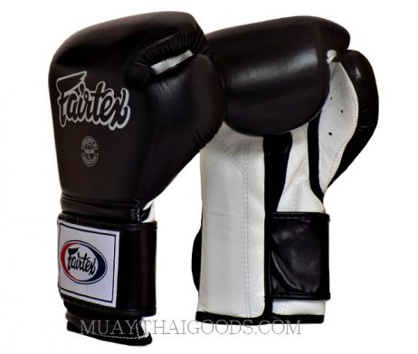 BGV9 Fairtex Boxing Gloves Mexican Style Black White