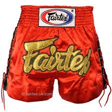 FAIRTEX Muay Thai Boxing Shorts Lace model RED