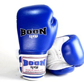 Boon Muay Thai Boxing Gloves BGV velcro Blue White