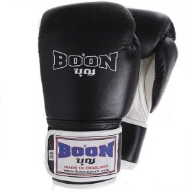 Boon Sport Muay Thai Boxing Gloves Black White