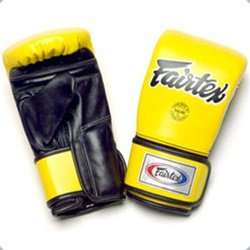 FAIRTEX BAG GLOVES TGT7 YELLOW BLACK