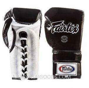 FAIRTEX BGL3 PRO SPARRING BOXING GLOVE BLACK WHITE