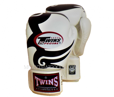 MIKE TYSON TATTOO FBGV12 WHITE TWINS SPECIAL BOXING GLOVES