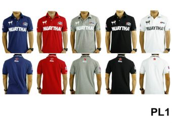 t shirt Polo Collection Fairtex White Black Grey Red Blue