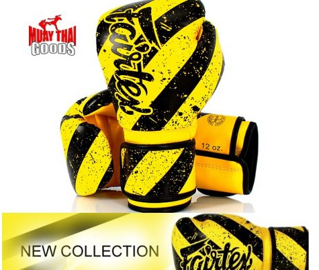 FAIRTEX BOXING GLOVES BGV14 YELLOW BLACK ARTIST COLLECTION