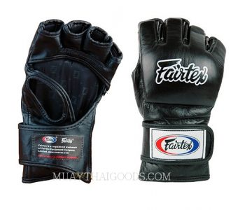 FAIRTEX LEATHER MMA GLOVES FGV12 FULL BLACK
