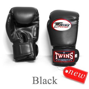 TWINS BOXING GLOVES MUAY THAI KID' S BLACK BGVL 3