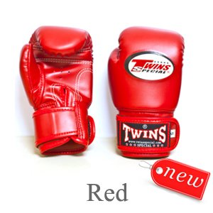 TWINS MUAY THAI BOXING GLOVES KID' S RED BGVL 3