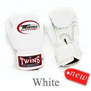 TWINS MUAY THAI BOXING GLOVES KID' S WHITE BGVL 3