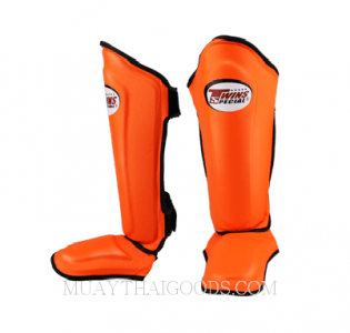 TWINS SHIN GUARDS PROTECTION SGL10 ORANGE DOUBLE PADDED