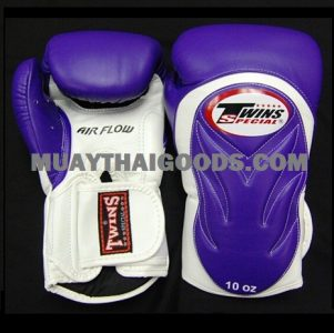 TWINS SPECIAL BGVL 6 BOXING GLOVES PURPLE WHITE AIR FLOW