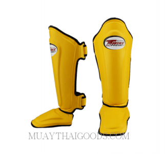 TWINS SPECIAL SHIN PADS PROTECTION SGL10 YELLOW DOUBLE PADDED