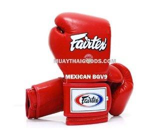 FAIRTEX BGV 9 MEXICAN GLOVES RED