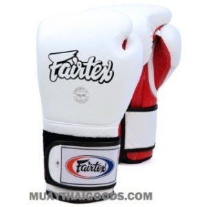 FAIRTEX BGV 9 MEXICAN STYLE GLOVES WHITE RED