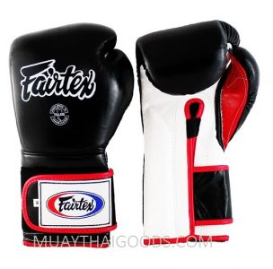 FAIRTEX BGV9 MEXICAN STYLE GLOVES BLACK WHITE RED