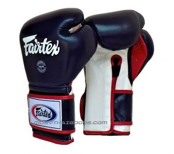 BOXING GLOVES FAIRTEX BGV9 MEXICAN STYLE BLUE WHITE RED