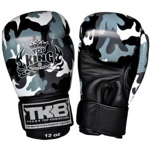 TOP KING BOXING GLOVES ARMY GREY CAMOUFLAGE
