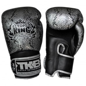 TOP KING BOXING GLOVES SNAKE DARK SILVER