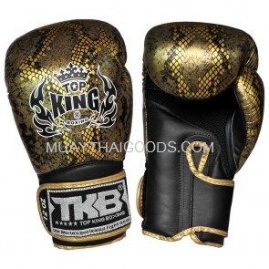 TOP KING BOXING GLOVES SNAKE GOLD BLACK