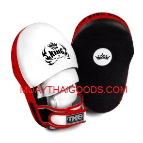 TOP KING EXTREME FOCUS MITTS BLACK RED WHITE