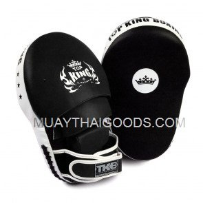 TOP KING EXTREME FOCUS MITTS BLACK WHITE