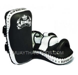 TOP KING KICKING PADS SUPER STRAIGHT BLACK WHITE