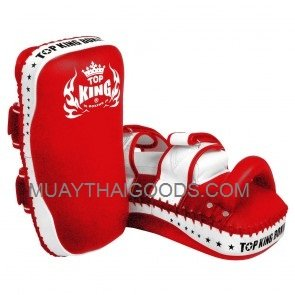TOP KING KICKING PADS SUPER STRAIGHT RED WHITE