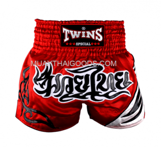 TWINS NEW MUAY THAI SHORTS RED T155