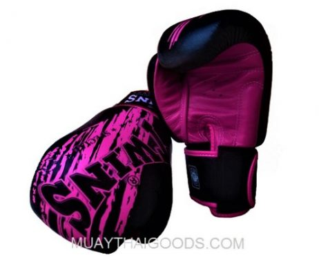 TWINS SPECIAL MUAY THAI BOXING GLOVES BLACK PURPLE FBGV TW3