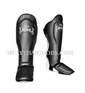 TOP KING BOXING SHIN GUARDS Empower Creativity TKSGEM 01 SV CARBON