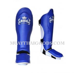 TOP KING PRO SHIN GUARDS GENUINE LEATHER TKSGP-GL BLUE