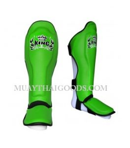 TOP KING PRO SHIN GUARDS GENUINE LEATHER TKSGP-GL GREEN