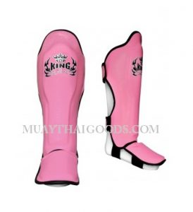 TOP KING PRO SHIN GUARDS GENUINE LEATHER TKSGP-GL PINK