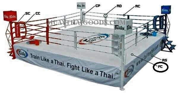 WHITE FLOOR CANVAS BOXING RING MADE BY FAIRTEX