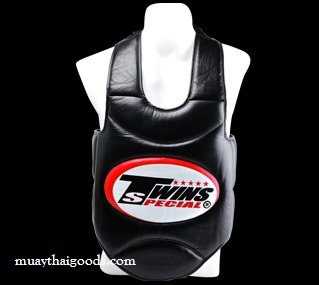TWINS TRAINER VEST BODY GUARDS PROTECTOR BOPS-1 BLACK SYNTHETIC