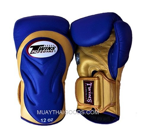 TWINS SPECIAL BGVL6 BOXING GLOVES DELUXE BLUE GOLD