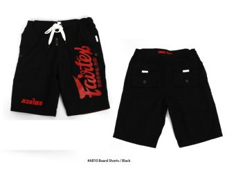 BOARD SHORTS MADE BY FAIRTEX COLOR BLACK AB10