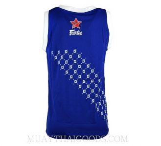 FAIRTEX TSHIRT BASKETBALL JERSEY JS5 SLEEVE LESS BLUE WHITE