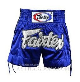 FAIRTEX MUAY THAI BOXING SHORTS BLUE LACES