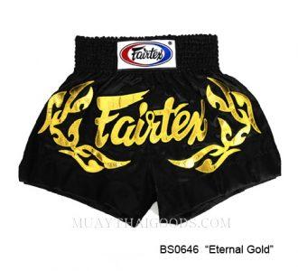 FAIRTEX MUAY THAI BOXING SHORTS ETERNAL GOLD BS0646