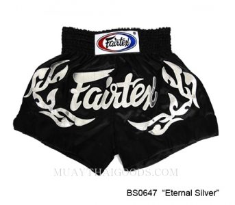 FAIRTEX MUAY THAI BOXING SHORTS ETERNAL SILVER BS0647