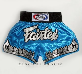 FAIRTEX MUAY THAI BOXING SHORTS LIGHT BLUE BS0631